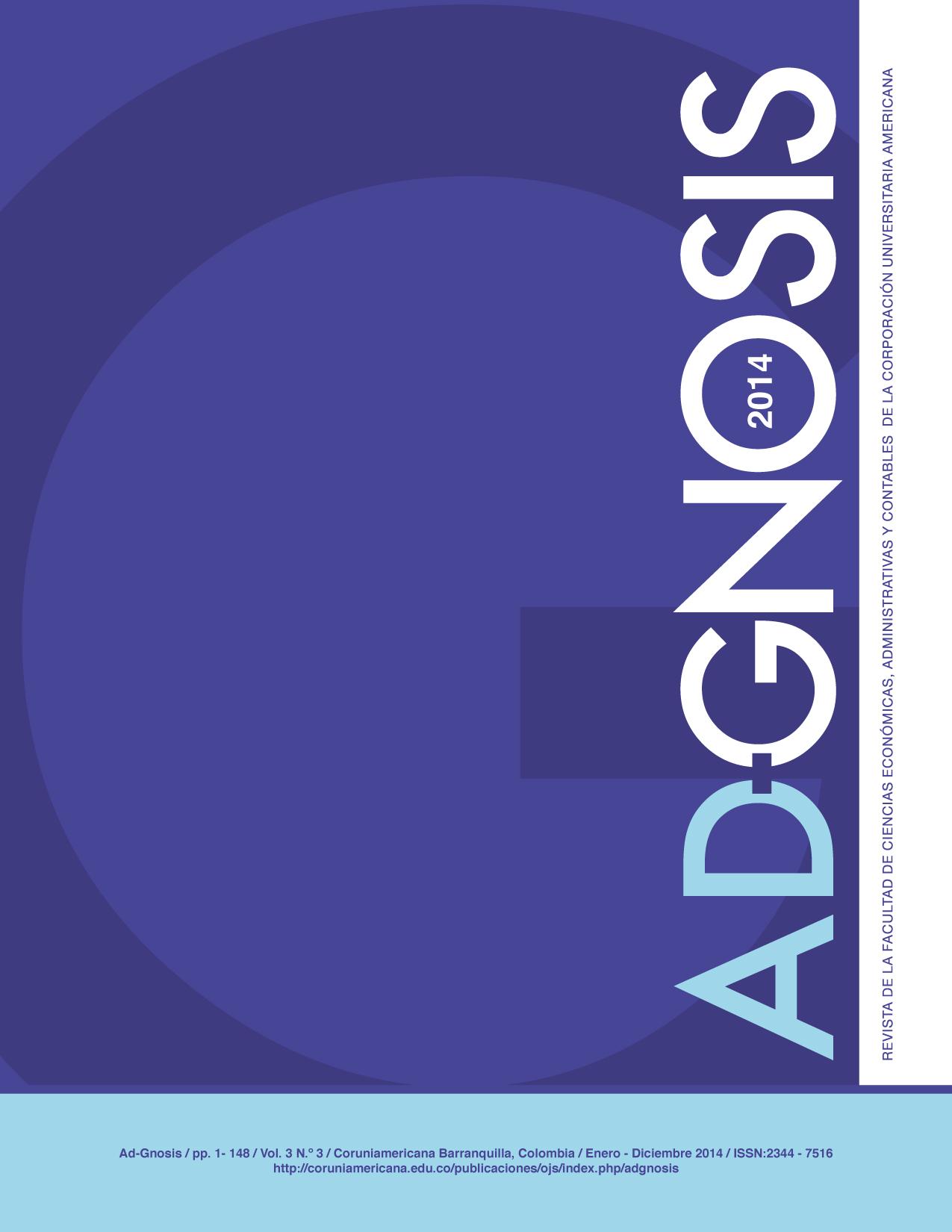 Ver Vol. 3 Núm. 3 (2014): ENERO - DICIEMBRE, 2014
